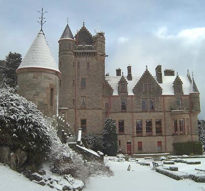 Belfast Castle in the snow